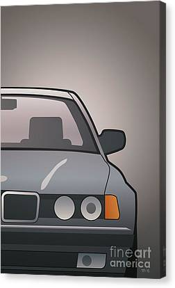 Modern Euro Icons Series Bmw E32 740i Canvas Print