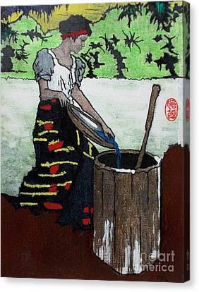 Filipina Canvas Print - Monobo Chores by Roberto Prusso