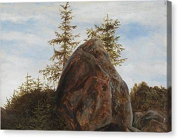 Fearnley Canvas Print - Monolith And Trees by MotionAge Designs