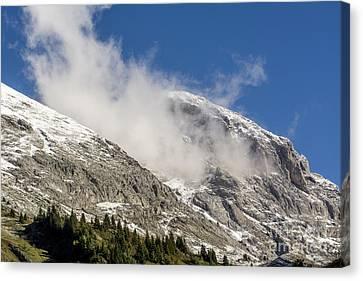 Montain Range Snow Covered.  Canvas Print