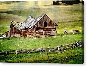 Montana Ranch Canvas Print by Marty Koch