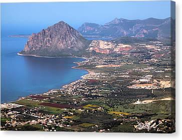 Monte Cofano - Sicily Canvas Print by Joana Kruse