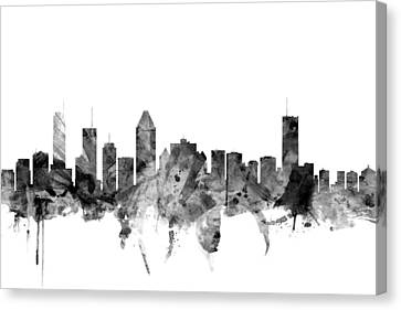 Montreal Canvas Print - Montreal Canada Skyline by Michael Tompsett