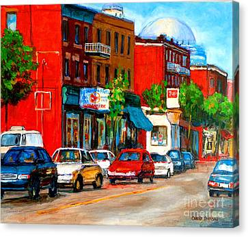 Montreal Paintings Canvas Print by Carole Spandau