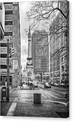 Canvas Print featuring the photograph Monument Circle by Howard Salmon