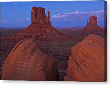 Monument Valley Canvas Print by Christian Heeb