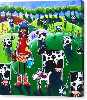 Moo Cow Farm Canvas Print by Jackie Carpenter