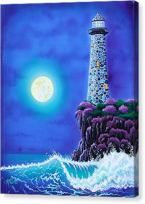 Moonlight Vigil Canvas Print by Angie Hamlin