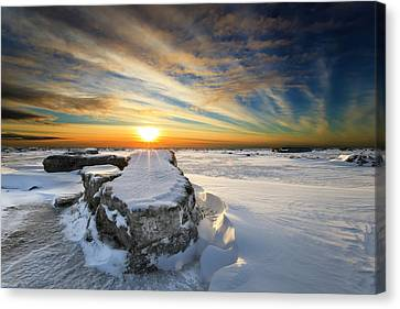 Snow Drifts Canvas Print - Moose's Tooth by Ed Boudreau