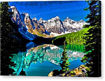 Moraine Lake Canvas Print by Dennis Cox WorldViews