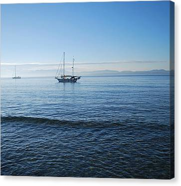 Morning Clouds Canvas Print by George Katechis