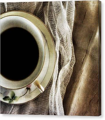Canvas Print featuring the photograph Morning Coffee by Bonnie Bruno