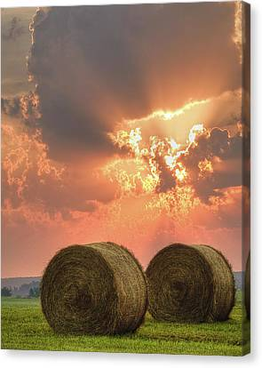 Morning In The Heartland Canvas Print by Ron  McGinnis