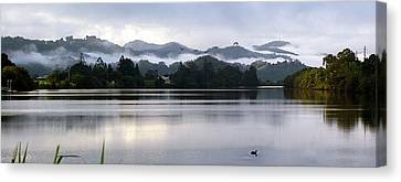 Canvas Print featuring the photograph Morning Mist by Odille Esmonde-Morgan