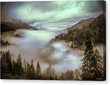 Morning Mountains II Canvas Print by Rebecca Hiatt