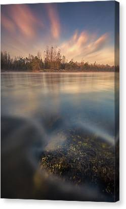 Canvas Print featuring the photograph Morning On River by Davorin Mance