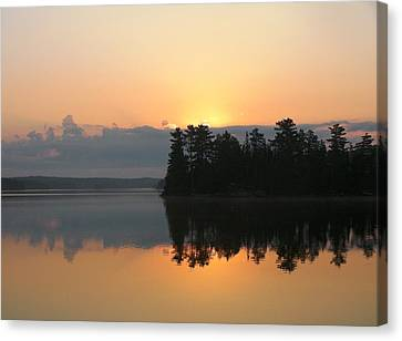 Morning Reflection Canvas Print by Peter  McIntosh