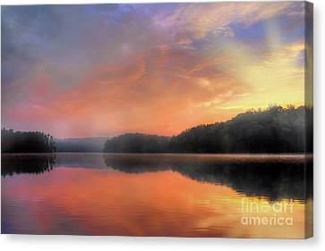 Canvas Print featuring the photograph Morning Solitude by Darren Fisher