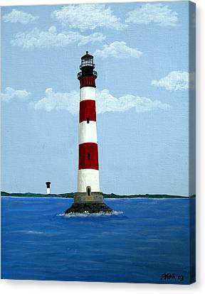 Morris Island Light Canvas Print by Frederic Kohli