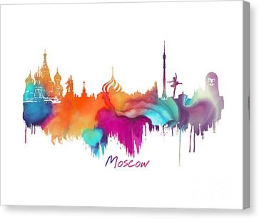Moscow  Canvas Print by Justyna JBJart
