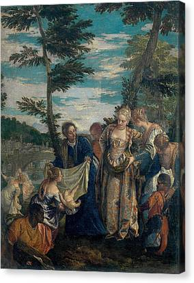 Moses Saved From The Waters Canvas Print by Paolo Veronese