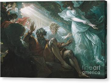 Moses Shown The Promised Land Canvas Print by Benjamin West