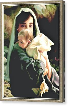 Mother And Child Canvas Print by Ron Chambers