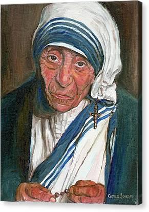 Mother Teresa Canvas Print by Carole Spandau