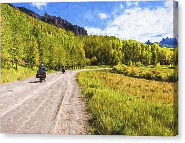 Motor Thru Colorado II Canvas Print