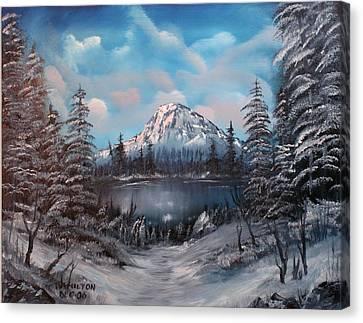 Mount Hood Oregon Canvas Print by Larry Hamilton