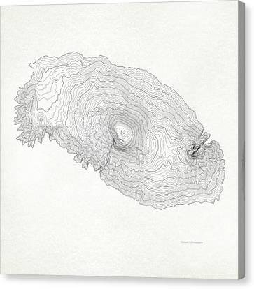 Mount Kilimanjaro Art Print Contour Map Of Mount Kilimanjaro In  Canvas Print