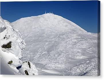 Mount Washington - White Mountain New Hampshire Usa Winter Canvas Print by Erin Paul Donovan