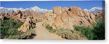 Mount Whitney, Lone Pine, California Canvas Print by Panoramic Images