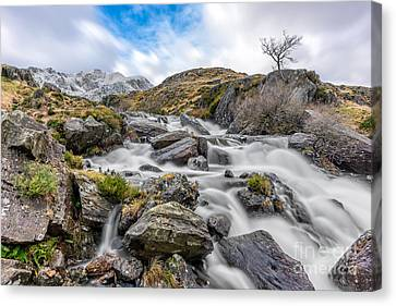Cwm Idwal Canvas Print - Mountain River by Adrian Evans