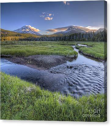 Mountains From Soda Creek Canvas Print
