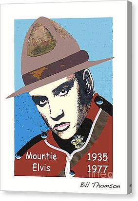 Mountie Elvis Canvas Print