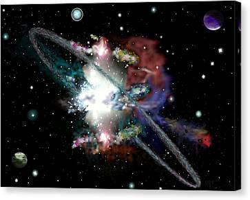Mouse Made Nebula Canvas Print