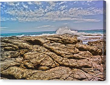 Mouth Of Margaret River Beach II Canvas Print by Cassandra Buckley