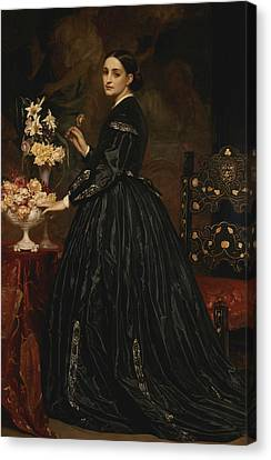 Mrs. James Guthrie Canvas Print by Frederic Leighton
