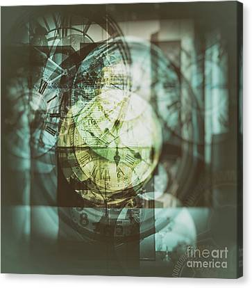 Canvas Print featuring the photograph Multi Exposure Clock   by Ariadna De Raadt