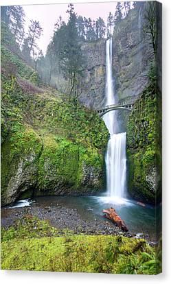 Multnomah Falls Waterfall Oregon Columbia River Gorge Canvas Print