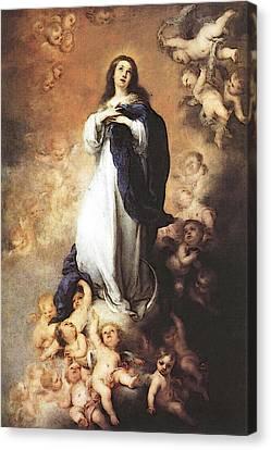 Murillo Immaculate Conception  Canvas Print by Bartolome Esteban Murillo