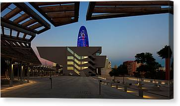 Museum In A City, Disseny Hub Canvas Print by Panoramic Images
