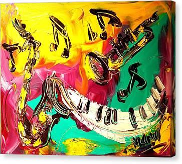 Music Jazz Canvas Print by Mark Kazav