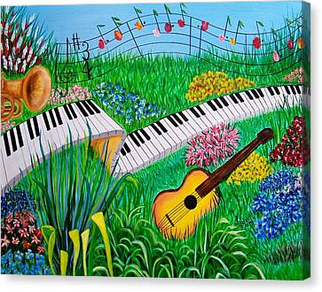 Musical Garden Canvas Print