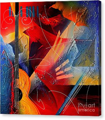 Musical Textures Series Canvas Print by Andrea Tharin