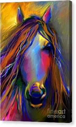 Mustang Horse Painting Canvas Print by Svetlana Novikova