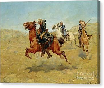 My Bunkie, 1899 Canvas Print by Charles Schreyvogel