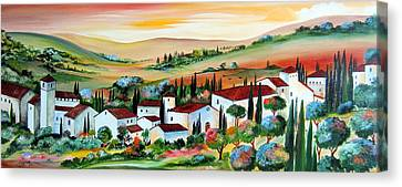 My Dream Village Canvas Print by Roberto Gagliardi