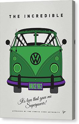 My Superhero-vw-t1-hulk Canvas Print by Chungkong Art